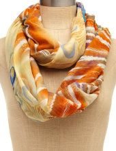 Peacock Feather Sunset Scarf, Charlotte Russe, $9.50