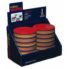 Colourworks Espositore per 72 sottobicchieri rotondi in silicone