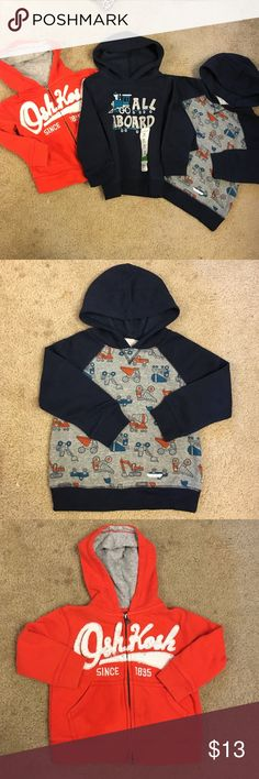 Bundle of 24 month hold for @gabellalove Super cute two new worn tags size 24 months made by Jumping bean and one 24 month by Osh Kosh in great condition Osh Kosh Shirts & Tops Sweaters