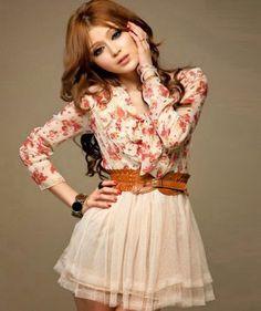 Women Fashion: Korean Casual Womens Long Sleeve Bow-knot
