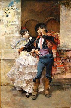 Pareja de baile. Autor: José García Ramos. 1.885.