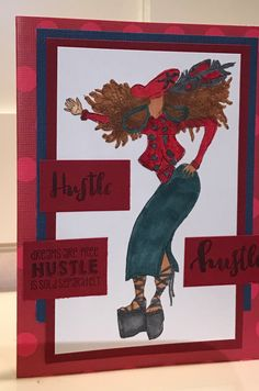 Dreams are free, hustle is sold separately African American woman encouragement greeting card by PlaysNicelyWithPaper on Etsy