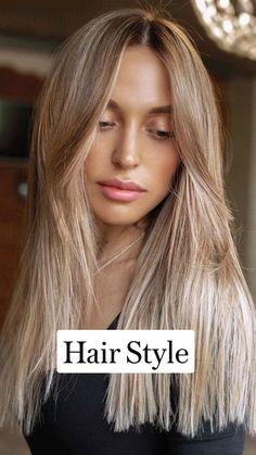Blonde Hair Looks, Brownish Blonde Hair Color, Carmel Blonde Hair, Blonde Balyage, Blonde Hair For Brunettes, Honey Blonde Hair Color, Brunette Hair, Aesthetic Hair, Mi Long