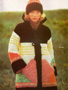 Vtg Knitting Crochet Patterns Bernat Bulky Shawl Poncho Jacket Coat 1977 VTNS   eBay