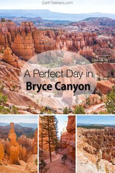 Bryce Canyon: one day in Bryce Canyon, with a full itinerary including the best hiking trails, best viewpoints, when to go, and photography tips. park One Perfect Day in Bryce Canyon National Park Bryce National Park, National Parks Usa, National Western, Canyonlands National Park, National Forest, Utah Vacation, Vacation Ideas, Grand Canyon Vacation, Mountain Vacations
