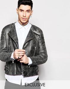 Black+Dust+Leather+Biker+Jacket