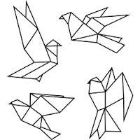 """Résultat de recherche d'images pour """"oiseau origami dessin"""""""