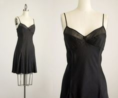 90s Vintage Victorias Secret Silk Black Sheer by ShopCherieVintage
