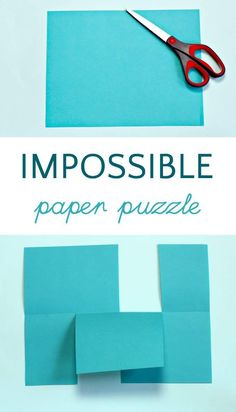 The Impossible paper puzzle is such a cool paper trick that kids can do. A topology activity that's fun for math learning