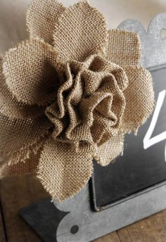 Burlap Roses I can make for accents in the centerpieces