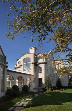Custom Steel Windows & Doors by Optimum WIndow Mfg Steel Windows, Arched Windows, Windows And Doors, Window Manufacturers, Custom Windows, Custom Homes, The Hamptons, Luxury Homes, Arquitetura