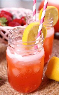 SPIKED STRAWBERRY LEMONADE: Made refreshingly sweet by Summer's best strawberries!