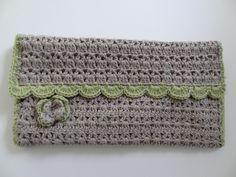 Crocheted Make up/Cosmetics Bag.  via Etsy.