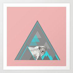 polar bear Art Print by Clare Corfield Carr - $20.00