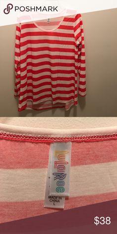 dbf5d3bac8 LLR Lynnae never worn size L pink and white Cute pink and white striped LLR  Lynnae