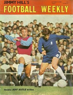 Jimmy Hill's Football weekley magazine in 1969 featuring West Ham v Chelsea on the cover.