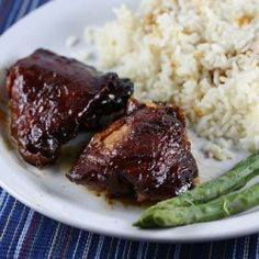 Slow Cooker Saucy Chicken Thighs Recipe (I found this recipe last weekend and thought I'd pinned it. Ha! I was wrong. Argh!)