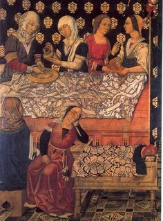 1495  The Vergós Family, Altarpiece of Sant Esteve de Granollers,  Museum of Catalan Art, Barcelona