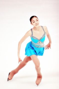 "Yuna Kim|2007-2008 SP "" Die Fledermaus"", Ice Dancing costume inspiration for Sk8 Gr8 Designs,Blue Figure Skating / Ice Skating dress inspiration for Sk8 Gr8 Designs"