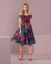Vestido Mídi Evasê Estampado Rosas - Lez a Lez