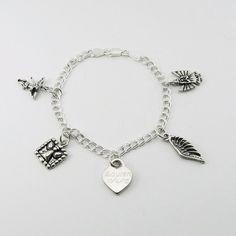 Angel Memorial Bracelet   Sterling Charm Bracelet