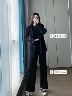 Korean Girl Fashion, Korean Street Fashion, Ulzzang Fashion, Korea Fashion, Asian Fashion, Look Fashion, Teen Fashion, Kpop Fashion Outfits, Korean Outfits