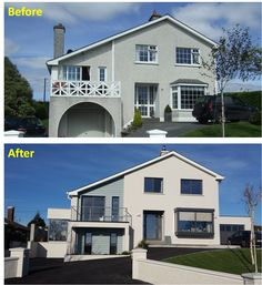 Remodel of a suburban family home, on the edge of Skibbereen, West Cork. Courtyard House, House Extensions, House Layouts, Home Projects, Modern Farmhouse, House Plans, Home And Family, West Cork, New Homes
