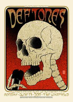 GigPosters.com - Deftones - Dillinger Escape Plan - Le Butcherettes