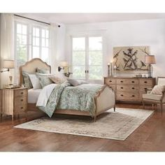Featuring a solid acacia wood frame, this Home Decorators Collection Wellington Drawer Stone Wash Nightstand will look great in a rustic-inspired bedroom. Decor, Home Bedroom, Furniture, Cottage Style Bedrooms, Master Bedrooms Decor, Simple Bedroom, Bedroom Decor, Home Decorators Collection, Home Decor