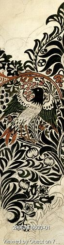 Bird and vine, by William Morris. England, 19th century