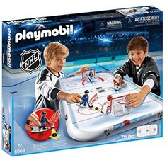 Playmobil – NHL Arena Ages He shoots – he scores! ALL NEW PLAYMOBIL! Be the star of your favourite team, grab some friends, or play on your own, and watch as the hockey game comes to life! Play Mobile, Hockey Puck, Hockey Games, Ice Hockey, Hockey Baby, Hockey Sticks, Playmobil Ghostbusters, Realistic Games, Thing 1