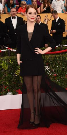 Emma Stone's Red Carpet Style - Dior Haute Couture, 2015 - from InStyle.com