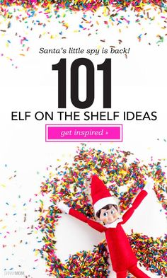 101 Elf on the Shelf Ideas - Need more ideas on how to place your little elf this year? Check these out! Merry Little Christmas, All Things Christmas, Christmas Holidays, Christmas Crafts, Christmas Decorations, Christmas Ideas, Xmas, Elf On The Self, The Elf
