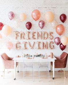 The Cutest Galentine's Day Party for the Little Ones- Friendsgiving Party Thanksgiving Pictures, Thanksgiving Parties, Thanksgiving Decorations, Holiday Parties, Holiday Fun, Thanksgiving Wedding, Bridal Shower, Baby Shower, Holidays And Events