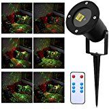 ARINO Landscape Laser Spotlight Outdoor Christmas Holiday Light with IR Wireless Remote IP65 Red and Green Star... christmas deals week