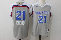 ea7c6816f Men s Eastern Conference Philadelphia Joel Embiid adidas Gray 2017 NBA  All-Star Game Swingman Jersey