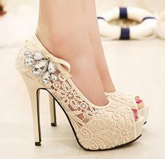 >> Click to Buy << Odinokov Sweet Silk Satins Bow Knot Thin Heels Pumps Sexy Lace Flower Mesh Open Toe High Heels Shoes Woman Wedding Party Shoes #Affiliate