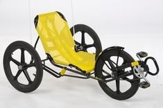 the most fun bike to ride ever! seriously. you steer it by leaning and the whole seat rotates a little