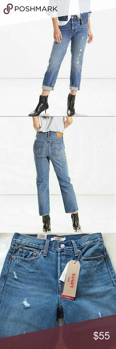 19f687f0190 New Levi's Wedgie Fit New with tags Size 26 run 25 maybe 24, see  measurements Hi Rise Color: Before Down 100℅ Cotton Non-stretch Stretch  Denim Button Fly ...