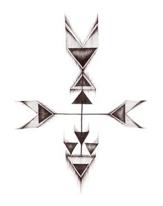 Arrow like this with a compass for Nick's tattoo.