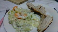 Varkenshaasje met aardappel em broccoli gratin - 413 kcal