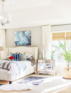 boho chic bedroom reveal with source list