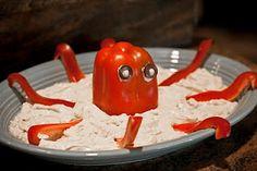 Ocean Preppy Boy Party Theme - Food, Octopus Hummus Dip