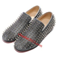 flat gray stud covered fashion shoes   Pinterest mira mon1  Album Christian Louboutin shoes, https://www.pinterest.com/miramon1/christian-louboutin/     February  2015