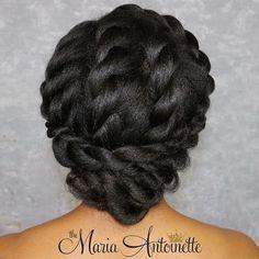 Elegant Twisted Updo For Black Hair