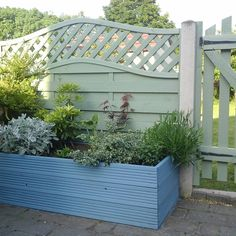 Shed painted in Cuprinol Wild Thyme with Pale Jasmine for ...