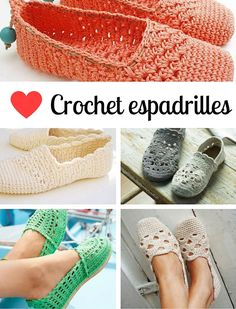 Crochet espadrilles, a love affair. Do you love crochet espadrilles? Check out crochet patterns for espadrilles en where to buy espadrille soles | Happy in Red