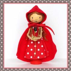 Little Red Riding Hood Peg Dolly. £24.00, via Etsy.