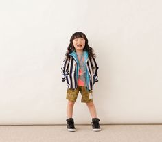 Another example of envious unisex styling: it's a girl in a perfect boy's outfit!