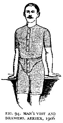 men's vest and drawers, 1906